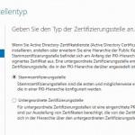 Bild 8: Zertifizierungsstellentyp