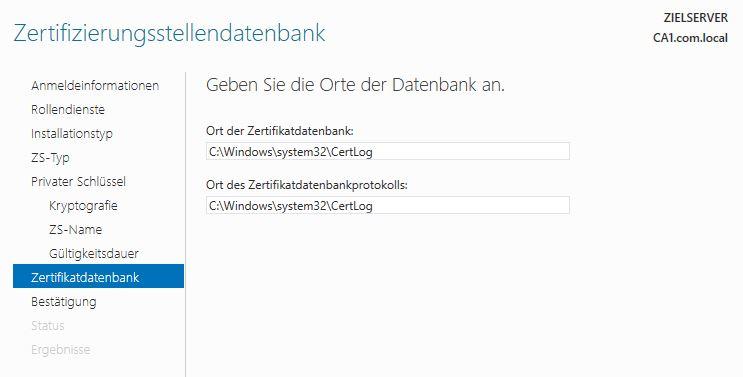 Active Directory Zertifikatsdienste (AD CS) - Grundkonfiguration