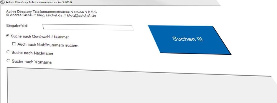 Active Directory Tefonnummernsuche