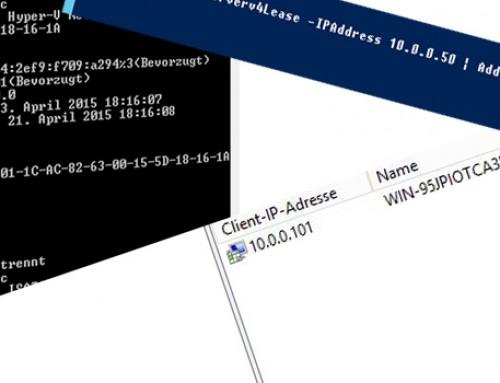 DHCP, Reservierungen und die PowerShell…