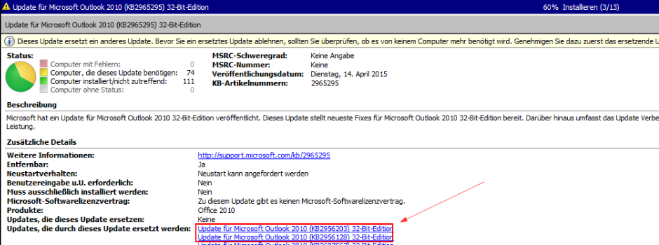 Outlook_KBKB2965295_Probleme