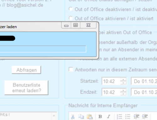 Out of Office Tool in Version 2.1 erschienen