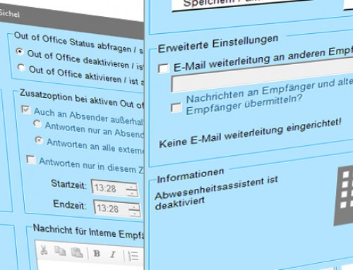 Out of Office Tool in Version 2.2 erschienen
