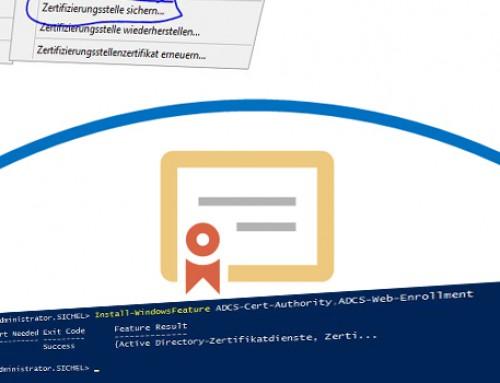 Zertifizierungsstelle (CA) auf Server 2016 umziehen (PKI Migration)
