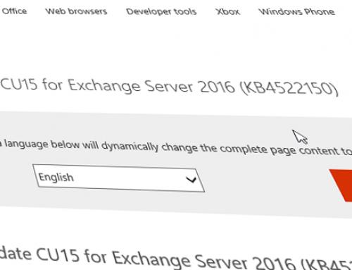Updates für Exchange 2016 & 2019 / Dezember2019